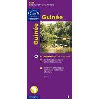 IGN Wegenkaart Guinee/Guinea 1:1.000.000