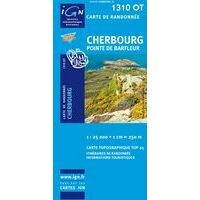 IGN Wandelkaart 1310ot Cherbourg