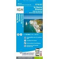 IGN Wandelkaart 1710et Le Havre