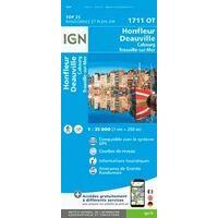 IGN Wandelkaart 1711ot Honfleur Deauville