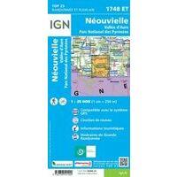 IGN Wandelkaart 1748et Néouvielle
