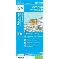 IGN Wandelkaart 1809ot Fécamp - St-Valery-en-Caux
