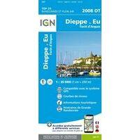 IGN Wandelkaart 2008ot Dieppe Eu