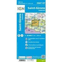IGN Wandelkaart 2047ot St-Girons - Couserans