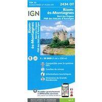 IGN Wandelkaart 2434ot Riom-ès-Montagnes