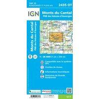 IGN Wandelkaart 2435ot Monts Du Cantal