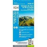 IGN Wandelkaart 2640ot Gorges Du Tarn