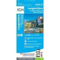 IGN Wandelkaart 2838ot Largentière