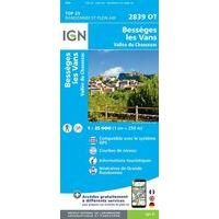 IGN Wandelkaart 2839ot Bessèges Les Vans