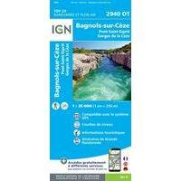 IGN Wandelkaart 2940ot Bagnols-sur-Cèze