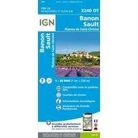 IGN Wandelkaart 3240ot Banon - Sault