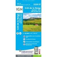 IGN Wandelkaart 3328ot Crêt De La Neige