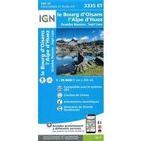 IGN Wandelkaart 3335et Bourg D'Oisans - Alpe D'Huez