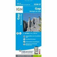IGN Wandelkaart 3338et Gap
