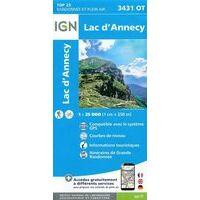 IGN Wandelkaart 3431ot Lac D'Annecy