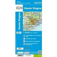 IGN Wandelkaart 3543et Haute Siagne