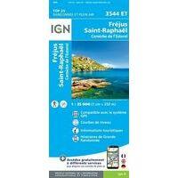 IGN Wandelkaart 3544et Fréjus St Raphaël