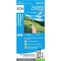 IGN Wandelkaart 3618ot Gérardmer - Le Hohneck