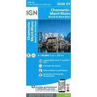 IGN Wandelkaart 3630ot Chamonix - Mont Blanc