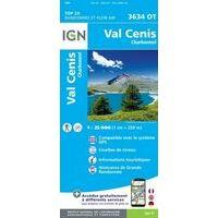 IGN Wandelkaart 3634ot Val Cenis - Charbonnel