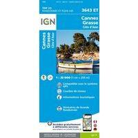 IGN Wandelkaart 3643et Cannes - Grasse