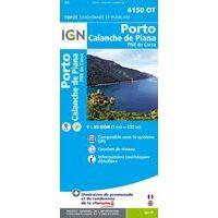 IGN Wandelkaart 4150ot Porto - Calanche De Piana