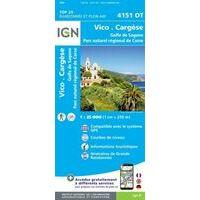 IGN Wandelkaart 4151ot Vico - Cargèse