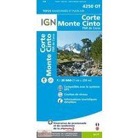 IGN Wandelkaart 4250ot Corte - Monte Cinto