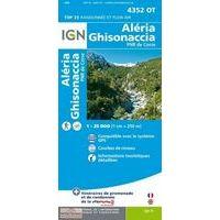 IGN Wandelkaart 4352ot Aléria Ghisonaccia