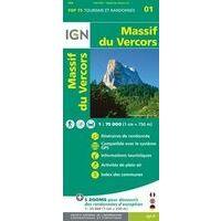 IGN Wandel- En Fietskaart Massif Du Vercors