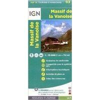 IGN Wandel- En Fietskaart 03 Massif De La Vanoise