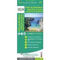 IGN Wandel- En Fietskaart Golfe Du Morbihan / Ile Groix 1:75.0
