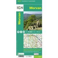 IGN Wandel- & Fietskaart 25 Morvan