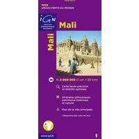 IGN Wegenkaart Mali 1:1.200.000