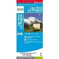IGN Wandelkaart 3532ETR Les Arcs - La Plagne