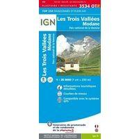 IGN Wandelkaart 3534OTR Les Trois Vallées