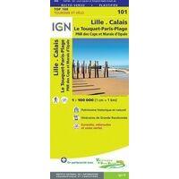IGN Fietskaart 101 Lille - Calais