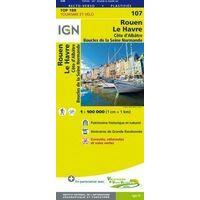 IGN Fietskaart 107 Rouen - Le Havre