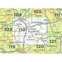 IGN Fietskaart 110 Reims - Saint-Dizier