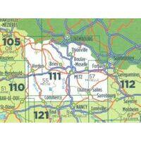 IGN Fietskaart 111 Metz - Verdun - Luxembourg