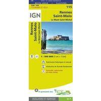 IGN Fietskaart 115 Rennes - Saint-Malo