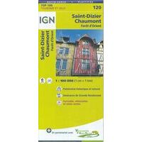 IGN Fietskaart 120 Saint-Dizier - Chaumont