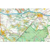 IGN Fietskaart 122 Colmar - Mulhouse - Basel