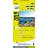 IGN Fietskaart 123 Vannes - Lorient - Morbihan