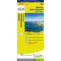IGN Fietskaart 124 Nantes - Saint-Nazaire
