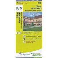 IGN Fietskaart 129 Dijon - Montbard - Bourgondië