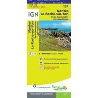 IGN Fietskaart 131 Nantes - La Roche-sur-Yon