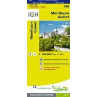 IGN Fietskaart 140 Montlucon - Guéret - Auvergne