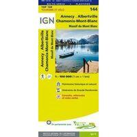IGN Fietskaart 144 Annecy - Thonon-les-Bains