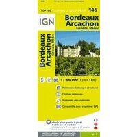 IGN Fietskaart 145 Bordeaux - Arcachon Gironde Médoc